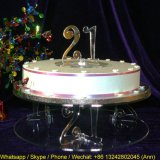21 Years Old Customized Acrylic Cakes Display Stand