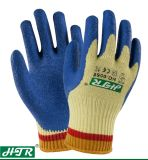 Latex Coated/Coating Aramid Cut-Resistant Anti-Abrasion Industrial Safety Work Gloves