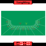 Gambling Casino Dragon Poker Table Layout -9 Player with Green Color Standard Design for Casino Games (YM-LH04G)