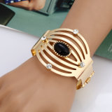 Fashion Steampunk Jewelry Hollow Cuff Bracelets Bangles Exaggerated Gold Silver Simple Alloy Arm Bracelets
