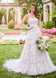 Amelie Rocky Strapless Custom Made Embroidery Tulle Wedding Dress