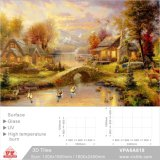 Ceramic Tile 3D Art Background for Building Material (VPA6A818, 1200X1800mm, 1800X2400mm)