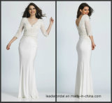 Lace Evening Dresses Sleeves Chiffon Bridesmaid Formal Gown M80239