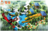 Cowboy New Design in Morocco Water Games Big Commercial Water Slide Outdoor Playground
