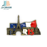Custom Enamel State Shape Paris Fridge Magnet