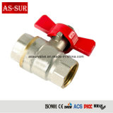 "1/2"" 3/4"" 1"" Brass Cheap Small Mini Ball Valve Butterfly Handle Ball Valve as-BV028"