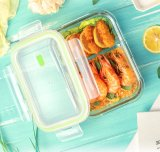 Microwave Heatable Borosilicate Glass Meal Prep Food Container Lunch Box