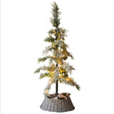 Renel Wicker Willow Christmas Tree Collar Bottom Cover for Holiday Decoration
