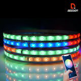 "APP Controlled Sync to Music 15"" Wheel Ring Chasing Light Dynamic Glow LED Car Lights 4PCS SMD Flexible Strip Lights"