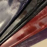 Genuine Handfeeling Patent PU Varnish Leather Microfiber for Car Seat Upholstery Furniture