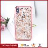 Electroplated Bumper Frame Bling Glitter Phone Case Protective Back Cover