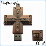 Metal Material Cross Design Jesus USB Flash Disk (XH-USB-100)