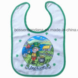 OEM Customized Design Printed Cheap Cotton Terry Baby Bibs Manufacturer
