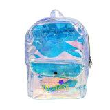 Custom Magic Leather School Laser PVC Backpack Bag.