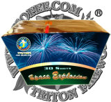 Space Explosion 30 Shots Fan Cake Fireworks