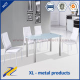 Home Furniture Modern Design Glass Top Dining Set