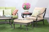 Comfortable Patio Cast Aluminum Ottoman Furniture
