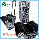 Zebra Makeup Trolley Cosmetic Beauty Cases (HX-L008)