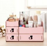 Hot Creative Desktop Cosmetic Storage Box, Wholesale DIY Wooden Storage Box