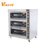 3 Deck 6 Tray Commercial Electric Pizza Bread Cake Bakery Machine Baking Oven