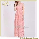 China Wholesale New Model Casual Maxi Long Dress Pink Dresses