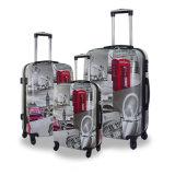OEM Printing Service Fashion ABS/PC Printed Trolley Travel Luggage
