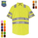 Short Sleeve Anti-Static Reflective Tape Safety Work Shirt