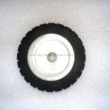 Custom Moulded Serrated Rubber Contact Wheel Dynamically Balanced Belt Sander Polisher Wheel Sanding Belt Set