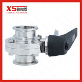China Stainless Steel SS304 SS316L Tc Sanitary Hygienic Butterfly Valve
