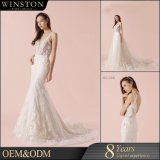 Special design Lace Material 100% Polyester Wedding Dress
