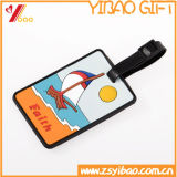 Custom Soft PVC Travel Luggage Tag /Wholesale Personalized Fancy Airplane Shape Blank Luggage Tag with Rubber Loop