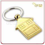 Customized Gold Plated House Metal Key Holder for Real Estate