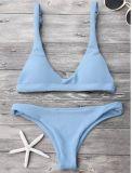 Sexy Women Swimwear Blue Bikini Brasileiro Beach Wear Cheap Modest