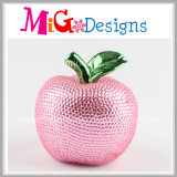 Colorful Apple Ceramic Piggy Bank with Diamond for Gifts