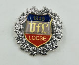 Custom Printed Logo with Wreath Lapel Pin / Badge / Emblem