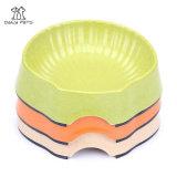 Shell Type Bamboo Fiber Dog Bowl Eco-Friendly Non-Skid Pet Dish