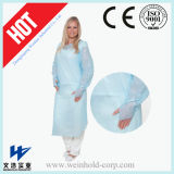 Disposable CPE Isolation Gown with Elasitc Cuff