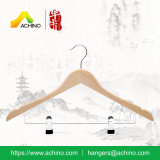 Wooden Combination Hangers with Metal Hook (WCH102-Natural)