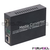 Gigabit Ethernet Fiber Media Converter with One LC/Sc SFP Slot