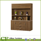 Executive Office High Wooden Cabinet with Open Shelf
