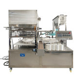 Automatic Wet Wipes Bucket Filling and Sealing Machine for Plastic Canister Moist Tissue Barrel Packing