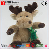 Gift Stuffed Animal Soft Toy Reindeer Plush Christmas Toy for Kids