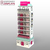 Double Sided New Design Floor Shopping Center Cosmetics Display with a Similar House Look