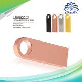 Custom USB Flash Drive 8GB 16GB 32GB 64GB Metal Mini USB 2.0 Flash Disk Memory Pendrive External Storage Stick