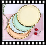 Tableware Luxury Outdoors Customized Disposable Paper Plate Holder for Picnic