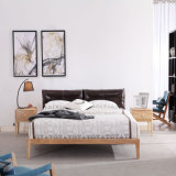 Modern Wood Bedroom Furniture Set Solid Wooden Bed for Home
