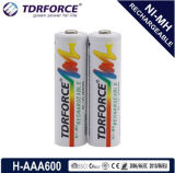 1.2V (HR03-AAA 600mAh) Rechargeable Low Self Discharge Nickel Metal Hydride China Fatory Battery