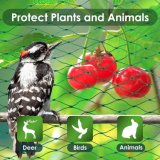 HDPE Bird Netting for Garden Protect Vegetable Plants and Fruit Trees, Plastic Trellis Netting for Against Birds, Deer, Squirrels, and Other Animals, Garden Net