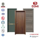 Flush Doors Hotel Apartment Melamine Skin Door HDF Plywood MDF Laminated Room Interior Fire Rated Wooden PU Paint Waterproof House Composite Wood Door