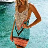 Women Bathing Suit Hollow-out Crochet Bikini Cover up Swimwear Summer Beach Dress
